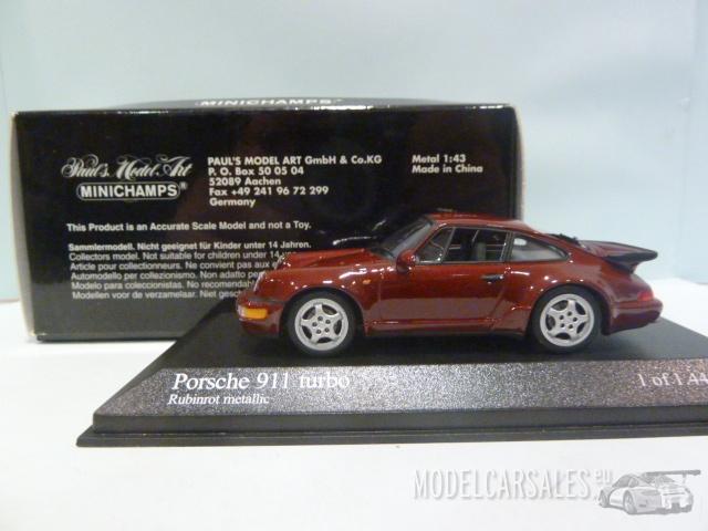 porsche 911 964 turbo red metallic 1 43 430069106. Black Bedroom Furniture Sets. Home Design Ideas