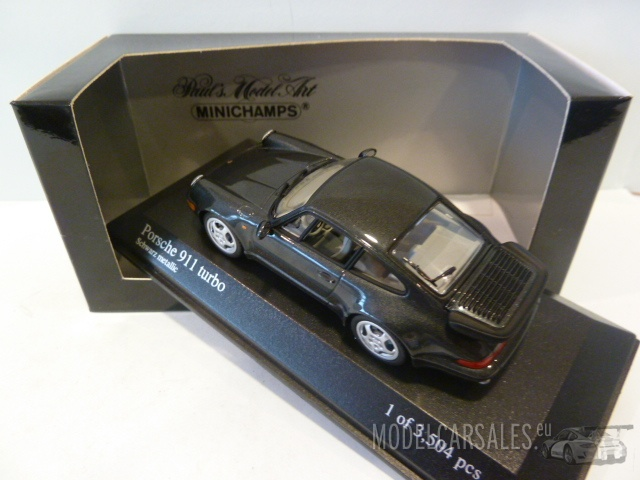 porsche 911 964 turbo black metallic 1 43 430069109. Black Bedroom Furniture Sets. Home Design Ideas