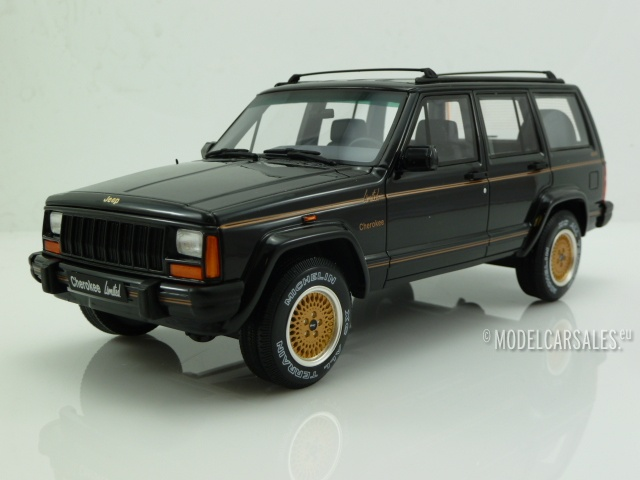 Jeep Cherokee Limited schwarz Modellauto OT219 Otto 1:18