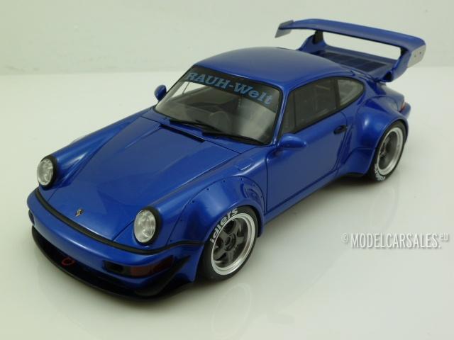 porsche 911 964 rwb rauh welt blue metallic 1 18 zm100. Black Bedroom Furniture Sets. Home Design Ideas