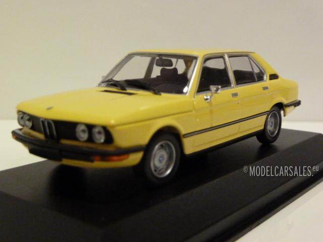 bmw 520 e12 yellow 1 43 940023001 maxichamps modellauto. Black Bedroom Furniture Sets. Home Design Ideas