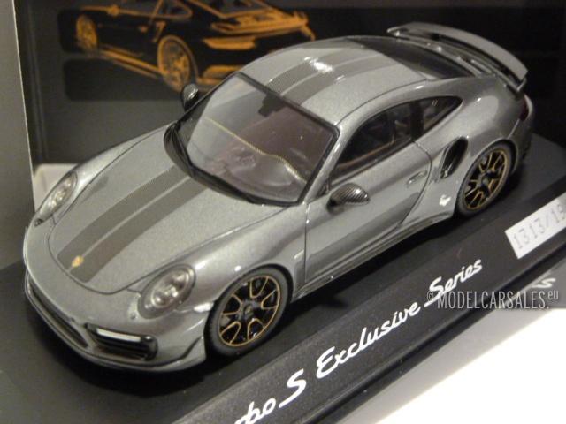 1:43 WAP0209050H Porsche 911 991 Turbo S Exclusive Series Achatgrau met