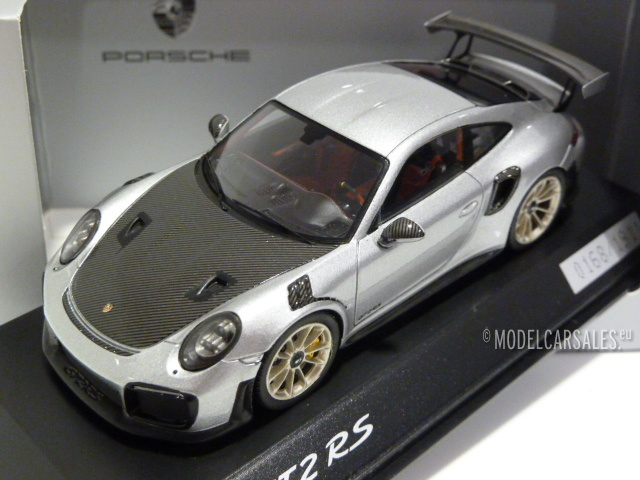 porsche 911 991 ii gt2 rs gt silver w black 1 43. Black Bedroom Furniture Sets. Home Design Ideas