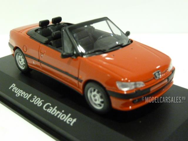 peugeot 306 cabriolet red 1:43 940112830 maxichamps modellauto zu
