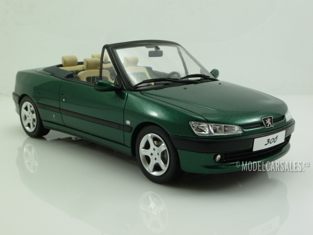 peugeot 306 cabriolet roland garros green metallic 1 18. Black Bedroom Furniture Sets. Home Design Ideas
