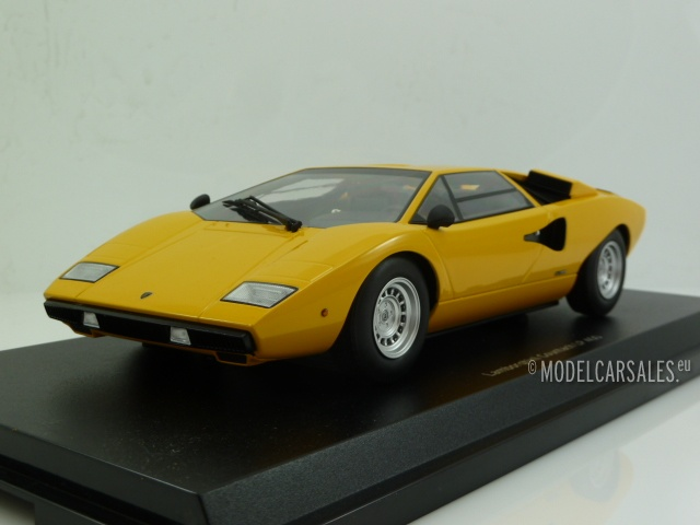 lamborghini countach lp400 yellow 1 18 kyo9531y0 kyosho. Black Bedroom Furniture Sets. Home Design Ideas