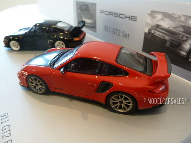 porsche 997 gt2 rs en 993 gt2 black red 1 43 wap020set27. Black Bedroom Furniture Sets. Home Design Ideas